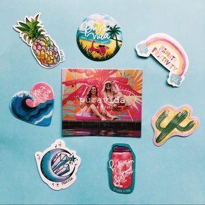 💛NWOT Pura Vida Stickers
